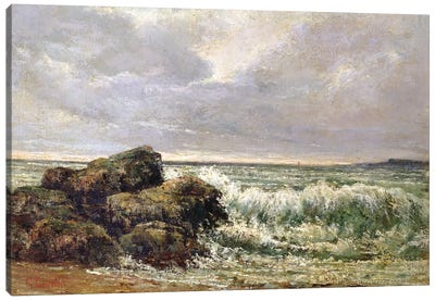The Wave, 1869 (Pushkin Museum) Canvas Art Print
