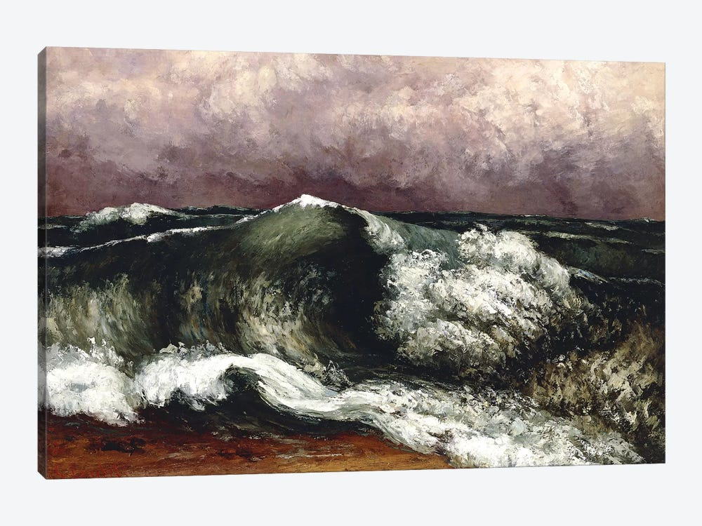 The Wave, 1869 (Private Collection) by Gustave Courbet 1-piece Canvas Art