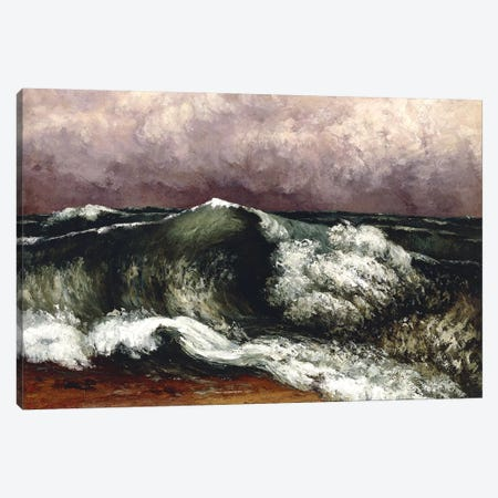 The Wave, 1869 (Private Collection) Canvas Print #BMN7092} by Gustave Courbet Canvas Art Print