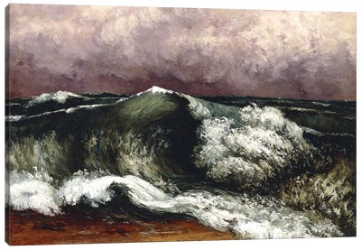 The Wave, 1869 (Private Collection) Canvas Art Print