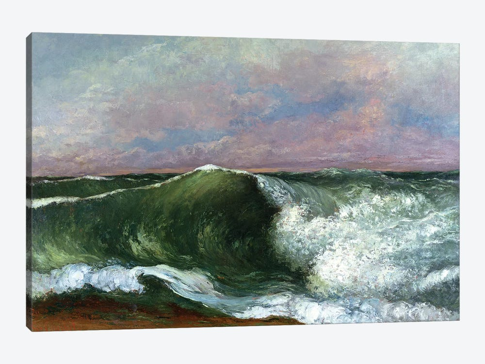 The Wave, 1870 (Private Collection) by Gustave Courbet 1-piece Canvas Art Print
