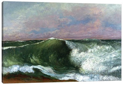 The Wave, 1870 (Private Collection) Canvas Art Print