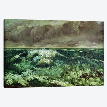 The Wave, after 1870 (Musee des Beaux-Arts, Lyon) Canvas Print #BMN7094} by Gustave Courbet Canvas Artwork