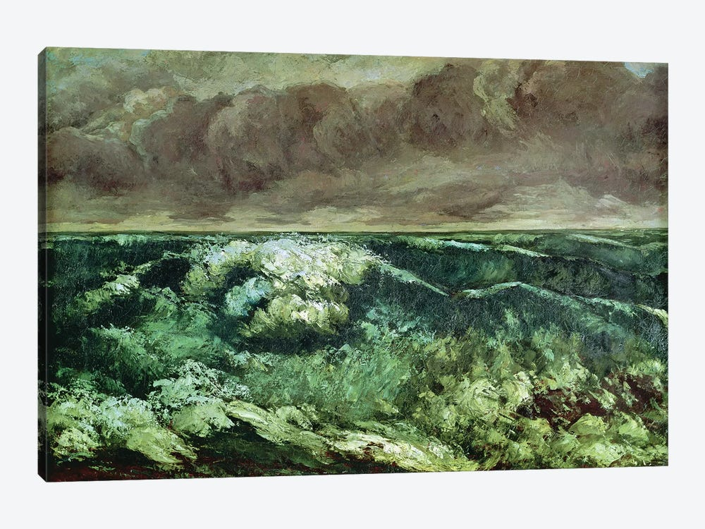 The Wave, after 1870 (Musee des Beaux-Arts, Lyon) by Gustave Courbet 1-piece Canvas Art