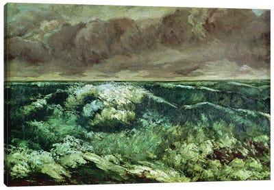 The Wave, after 1870 (Musee des Beaux-Arts, Lyon) Canvas Art Print