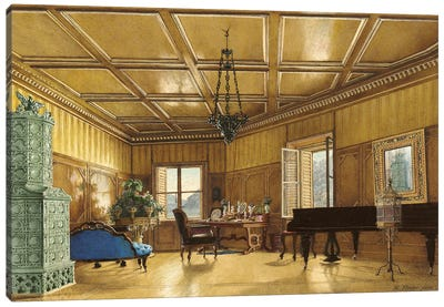 The Music Room Of Archduchess Margarete (Princess Of Saxony), In Schloss Ambras, 1870-79 Canvas Art Print