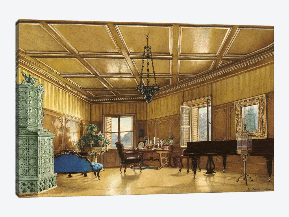 The Music Room Of Archduchess Margarete (Princess Of Saxony), In Schloss Ambras, 1870-79 by Heinrich von Forster 1-piece Art Print