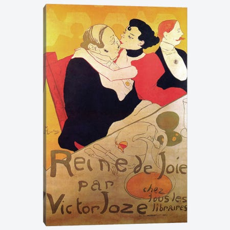 Queen Of Joy By Victor Joze Advertisement, 1892 Canvas Print #BMN7098} by Henri de Toulouse-Lautrec Canvas Art Print