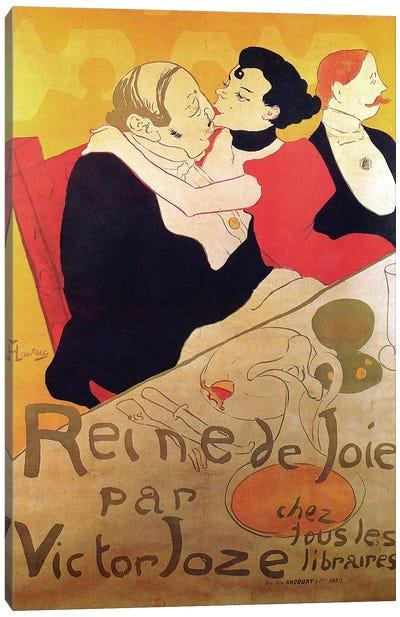 Queen Of Joy By Victor Joze Advertisement, 1892 Canvas Art Print