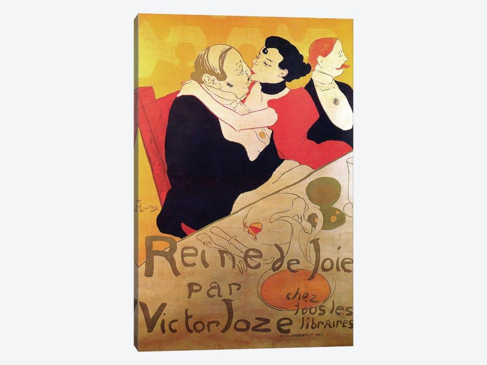Queen Of Joy By Victor Joze Advertisement, 1892 by Henri de Toulouse-Lautrec 1-piece Canvas Art