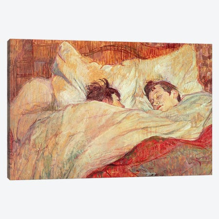 The Bed, c.1892-95 Canvas Print #BMN7099} by Henri de Toulouse-Lautrec Canvas Art Print
