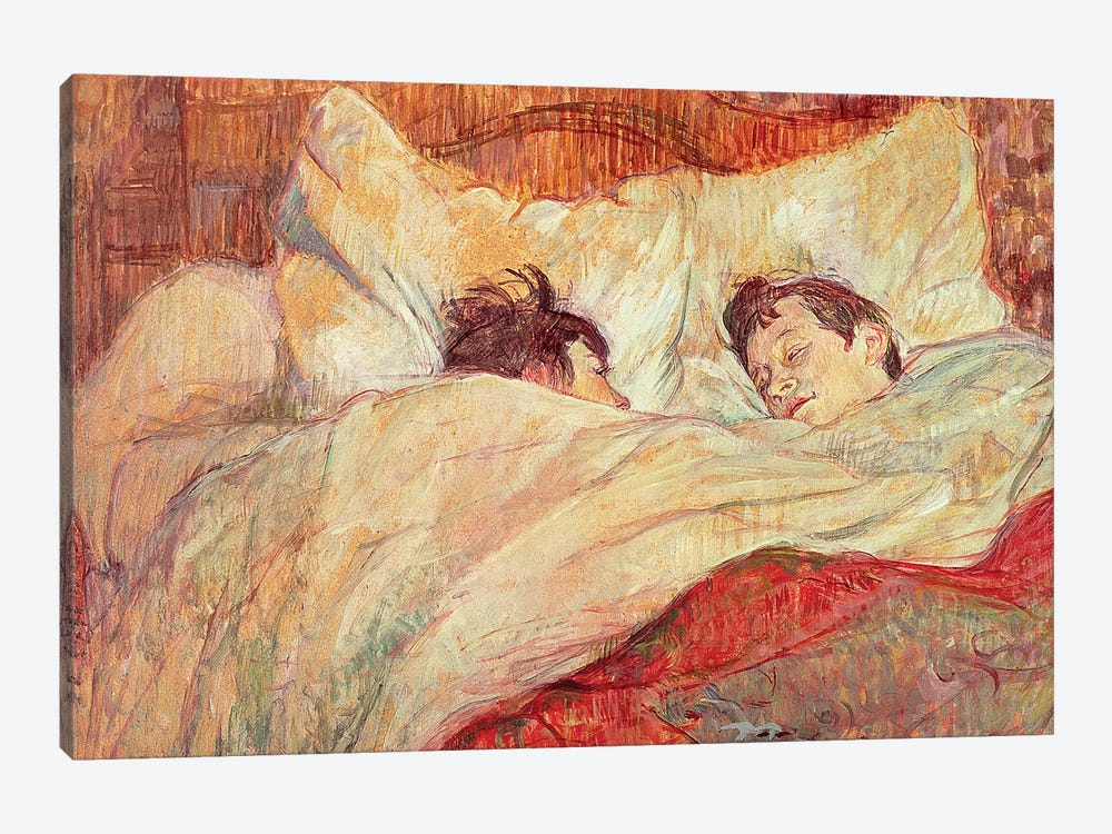 The Bed, c.1892-95 by Henri de Toulouse-Lautrec 1-piece Canvas Art Print