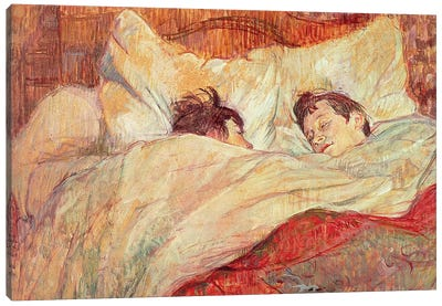 The Bed, c.1892-95 Canvas Art Print