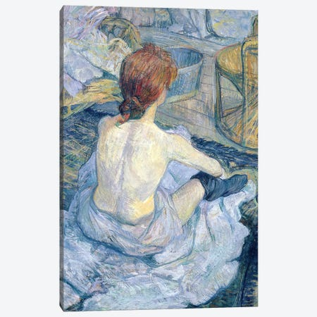 Woman At Her Toilet, 1896 Canvas Print #BMN7100} by Henri de Toulouse-Lautrec Canvas Art Print