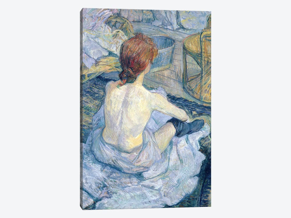 Woman At Her Toilet, 1896 by Henri de Toulouse-Lautrec 1-piece Canvas Wall Art