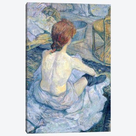Woman At Her Toilet, 1896 Canvas Print #BMN7100} by Henri de Toulouse-Lautrec Canvas Art Print