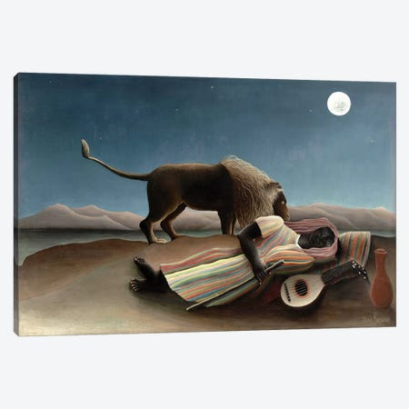 The Sleeping Gypsy, 1897 Canvas Print #BMN7102} by Henri Rousseau Canvas Print