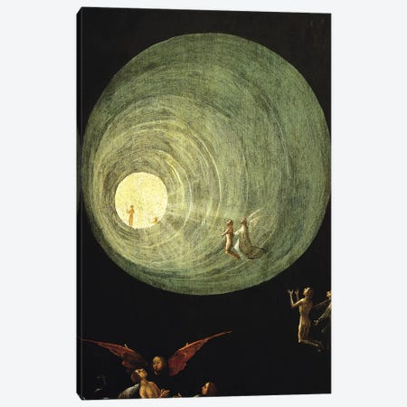 Deatail Of The Funnel Of Goodness And Light, Ascent Of The Blessed Canvas Print #BMN7103} by Hieronymus Bosch Art Print
