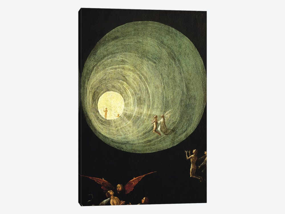 Deatail Of The Funnel Of Goodness And Light, Ascent Of The Blessed by Hieronymus Bosch 1-piece Art Print