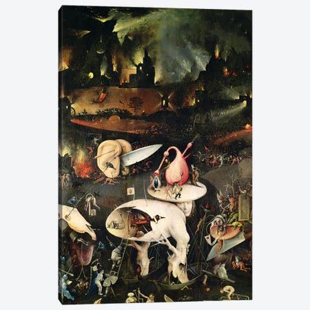 Detail Of Hell, Top Half Of The Right Panel, The Garden Of Earthly Delights, 1490-1500 Canvas Print #BMN7104} by Hieronymus Bosch Canvas Wall Art