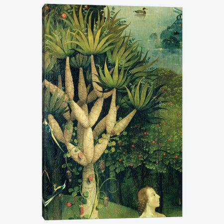 Detail Of The Tree Of Knowledge Of Good And Evil In Paradise, The Garden Of Earthly Delights, 1490-1500 Canvas Print #BMN7106} by Hieronymus Bosch Canvas Artwork