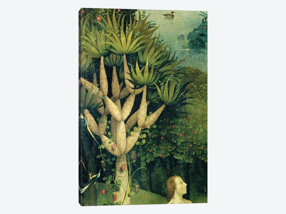 Detail Of The Tree Of Knowledge Of Good And Evil In Paradise, The Garden Of Earthly Delights, 1490-1500 by Hieronymus Bosch 1-piece Canvas Art