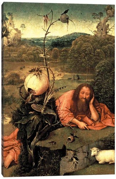 St. John The Baptist In Meditation Canvas Art Print