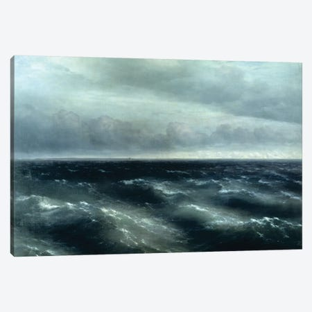 The Black Sea, 1881 Canvas Print #BMN7109} by Ivan Aivazovsky Canvas Art Print