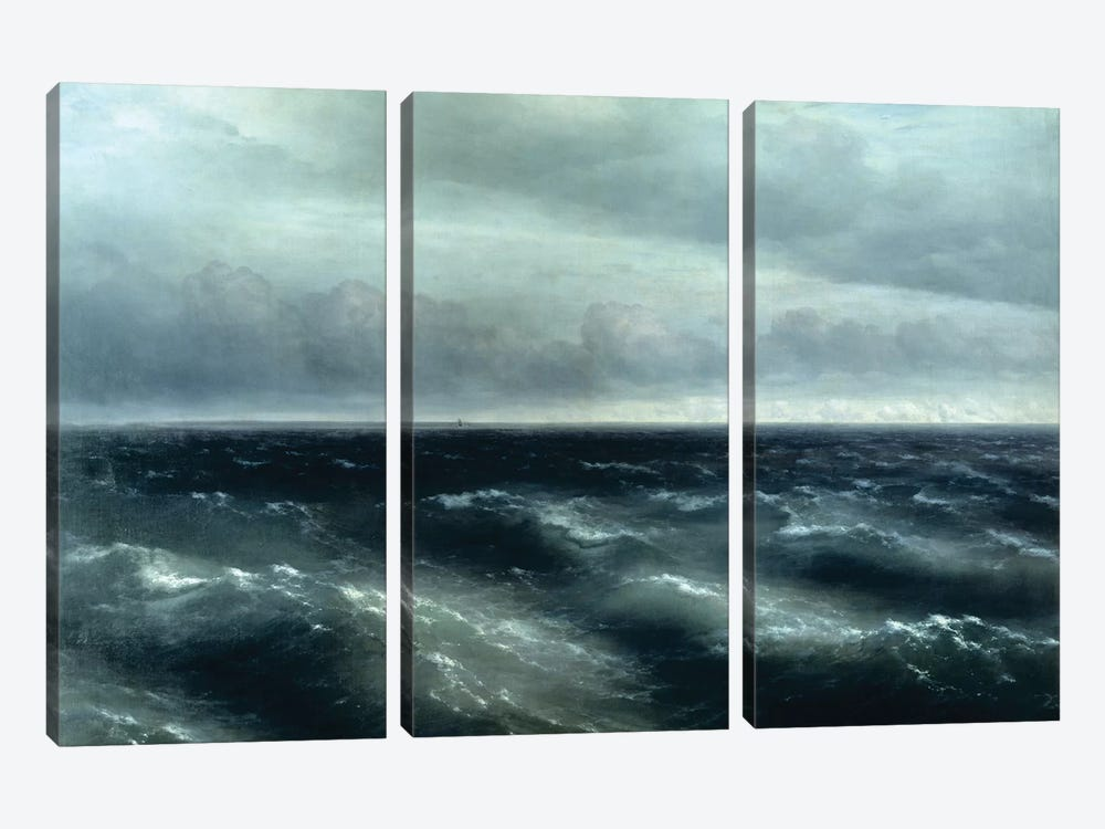 The Black Sea, 1881 by Ivan Aivazovsky 3-piece Art Print