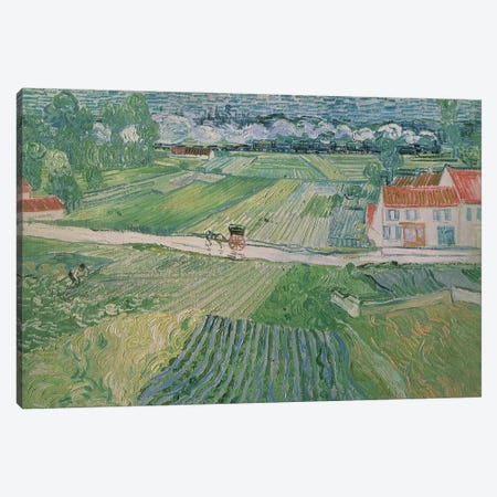 Landscape at Auvers after the Rain, 1890  Canvas Print #BMN710} by Vincent van Gogh Canvas Artwork