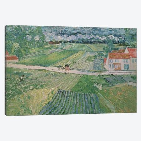 Landscape at Auvers after the Rain, 1890  Canvas Print #BMN710} by Vincent van Gogh Canvas Artwork
