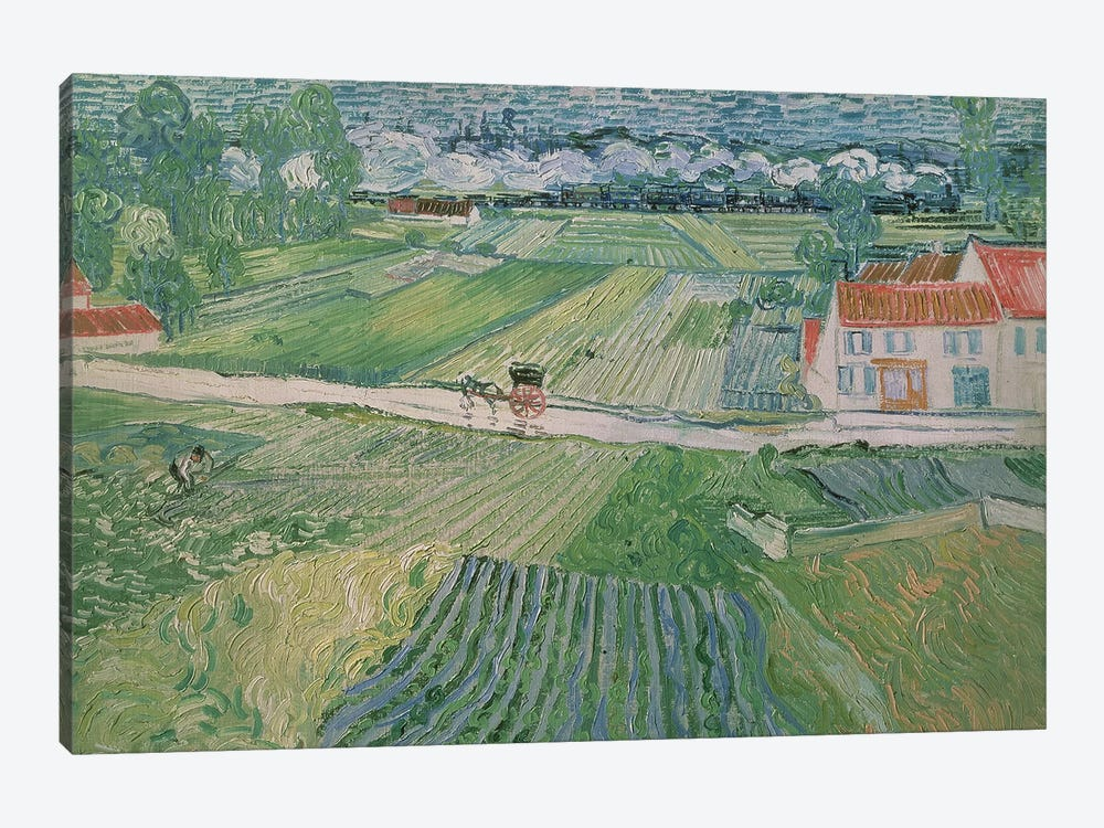 Landscape at Auvers after the Rain, 1890  by Vincent van Gogh 1-piece Art Print