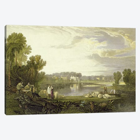 Alexander Pope's Villa, Twickenham, 1811 (John Pye Engraving) Canvas Print #BMN7110} by J.M.W. Turner Canvas Wall Art