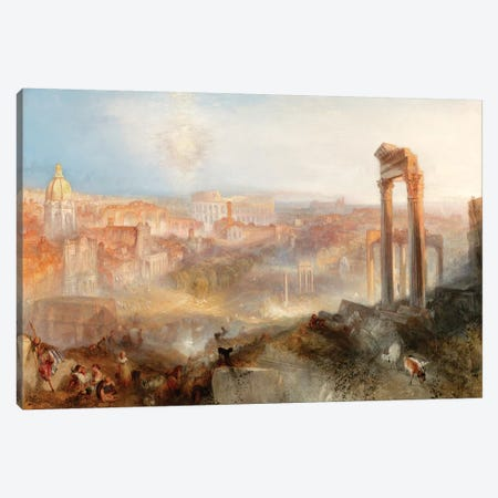 Modern Rome, Campo Vaccino, 1839 Canvas Print #BMN7112} by J.M.W. Turner Canvas Wall Art