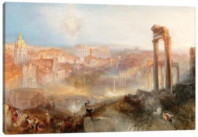 Modern Rome, Campo Vaccino, 1839 Canvas Art Print