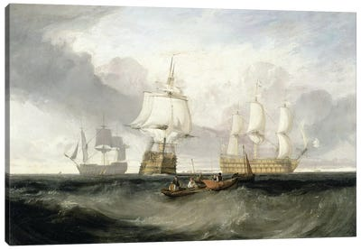 "The ""Victory"" Returning From Trafalgar, 1806 Canvas Art Print"