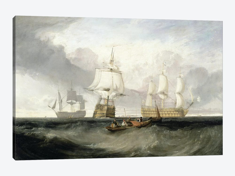 "The ""Victory"" Returning From Trafalgar, 1806 by J.M.W. Turner 1-piece Canvas Artwork"