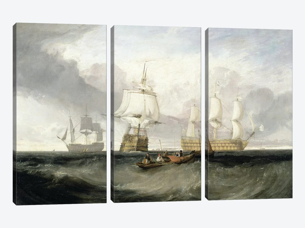 "The ""Victory"" Returning From Trafalgar, 1806 by J.M.W. Turner 3-piece Canvas Wall Art"
