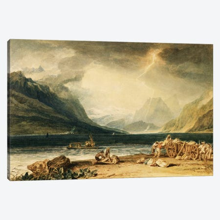 The Lake Of Thun, Switzerland, c.1802-10 Canvas Print #BMN7114} by J.M.W. Turner Canvas Art Print