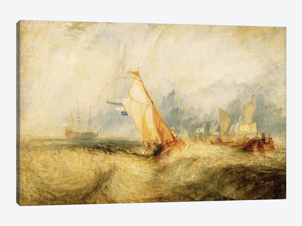 Van Tromp Going About To Please His Masters - Ships A Sea Getting A Good Wetting, 1844 by J.M.W. Turner 1-piece Canvas Wall Art