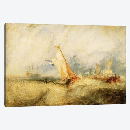 Van Tromp Going About To Please His Masters - Ships A Sea Getting A Good Wetting, 1844 Canvas Print #BMN7115} by J.M.W. Turner Canvas Print