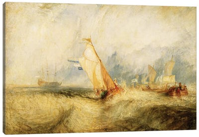 Van Tromp Going About To Please His Masters - Ships A Sea Getting A Good Wetting, 1844 Canvas Art Print