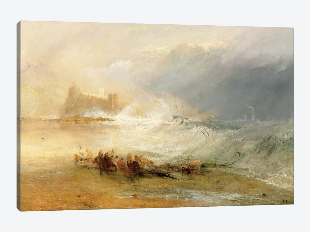 Wreckers - Coast Of Northumberland, With A Steam Boat Assisting A Ship Off Shore, 1834 by J.M.W. Turner 1-piece Art Print