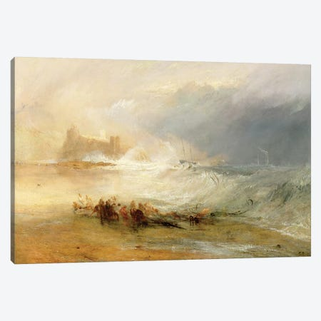 Wreckers - Coast Of Northumberland, With A Steam Boat Assisting A Ship Off Shore, 1834 Canvas Print #BMN7118} by J.M.W. Turner Canvas Wall Art