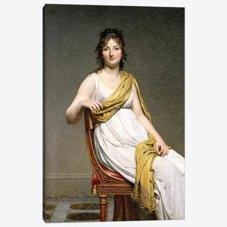 Portrait Of Madame Raymond de Verninac, 1798-99 3-Piece Canvas #BMN7119} by Jacques-Louis David Canvas Art
