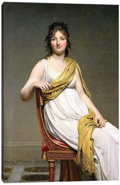 Portrait Of Madame Raymond de Verninac, 1798-99 Canvas Art Print