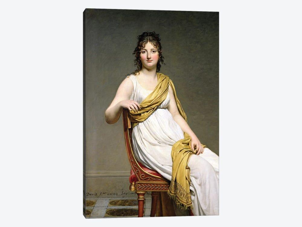 Portrait Of Madame Raymond de Verninac, 1798-99 by Jacques-Louis David 1-piece Canvas Artwork