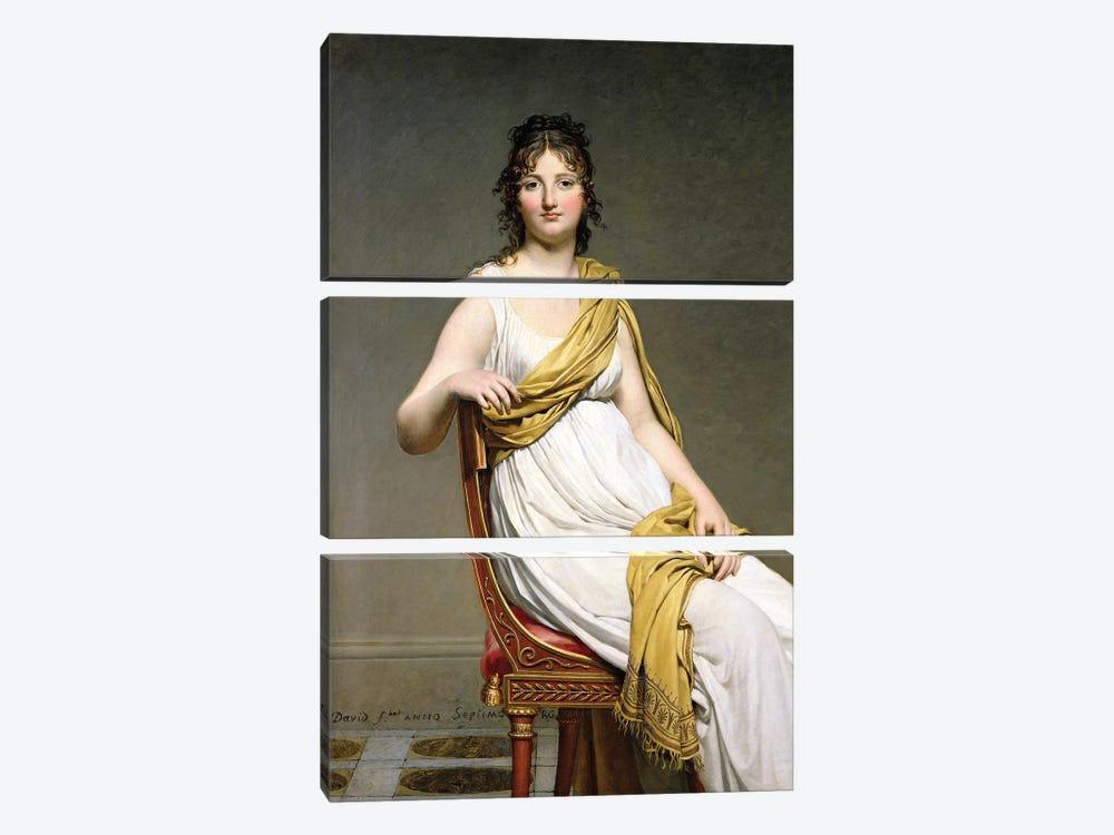 Portrait Of Madame Raymond de Verninac, 1798-99 by Jacques-Louis David 3-piece Canvas Wall Art