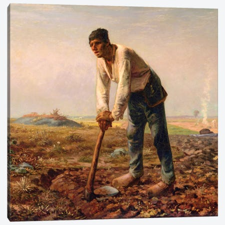 Man With A Hoe, c,1860-62 Canvas Print #BMN7120} by Jean-Francois Millet Canvas Art Print