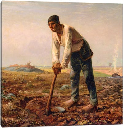 Man With A Hoe, c,1860-62 Canvas Art Print
